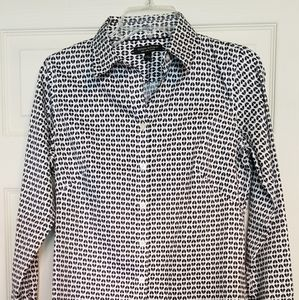 Banana Republic Non-iron Fitted Blouse - Hearts